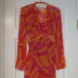 Orange/Pink mix tunic with detachable cami